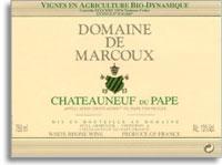 2010 Domaine de Marcoux Chateauneuf-du-Pape Blanc