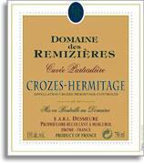 2013 Domaine des Remizieres Crozes-Hermitage Blanc Cuvee Particuliere