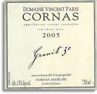 2010 Domaine Vincent Paris Cornas Granit 30