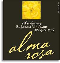 2011 Alma Rosa Winery And Vineyards Chardonnay El Jabila Vineyard Sta Rita Hills