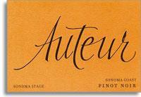 2011 Auteur Wines Pinot Noir Sonoma Stage Sonoma Coast
