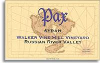 2010 Pax Wine Cellars Syrah Walker Vine Hill Russian River Valley