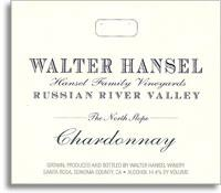 2007 Walter Hansel Winery Chardonnay The North Slope Vineyard Russian River Valley