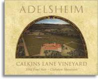 2010 Adelsheim Pinot Noir Calkins Lane Vineyard Chehalem Mountains