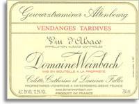 2005 Domaine Weinbach Gewurztraminer Altenbourg Vendange Tardives