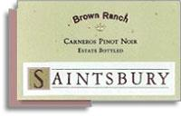2012 Saintsbury Pinot Noir Brown Ranch Carneros