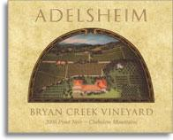 2008 Adelsheim Pinot Noir Bryan Creek Vineyard Chehalem Mountains