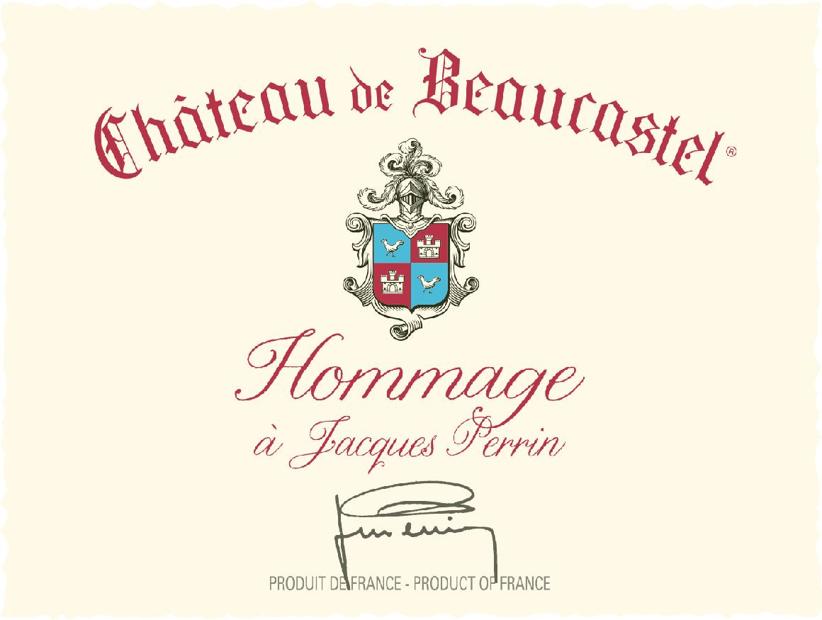 1995 Chateau de Beaucastel Chateauneuf-du-Pape Hommage a Jacques Perrin