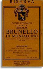 2007 Costanti Brunello Di Montalcino Riserva