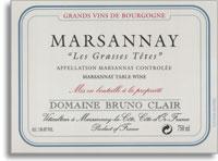 2012 Domaine Bruno Clair Marsannay Les Grasses-Tetes