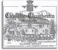 2014 Domaine Claude Dugat Chapelle-Chambertin