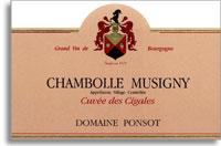2008 Domaine Ponsot Chambolle-Musigny Cuvee des Cigales