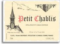 2011 Domaine Vincent Dauvissat Petit Chablis