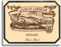 2008 Domaine Rene Mure/Clos St. Landelin Riesling Vorbourg Clos Saint Landelin