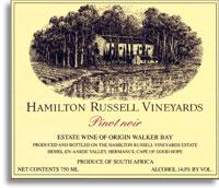 2009 Hamilton Russell Vineyards Pinot Noir Walker Bay