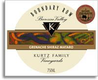2010 Kurtz Family Vineyards Grenacheshirazmataro Boundary Row Barossa Valley