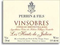 2012 Famille Perrin Vinsobres Les Hauts De Julien Vieilles Vignes