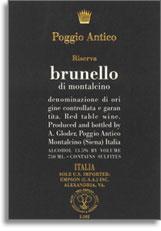 2004 Poggio Antico Brunello Di Montalcino Riserva