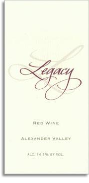 2012 Jackson Family Wines Legacy Red Wine Alexander Valley