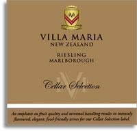 2010 Villa Maria Estate Riesling Cellar Selection Marlborough