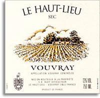2012 Domaine Huet Vouvray Le Haut Lieu Sec