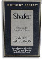 1999 Shafer Vineyards Cabernet Sauvignon Hillside Select Stags Leap District