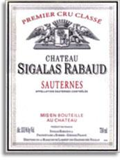 2013 Chateau Sigalas Rabaud Sauternes