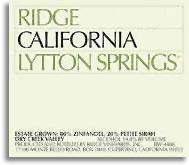 2011 Ridge Vineyards Zinfandel Lytton Springs Dry Creek Valley