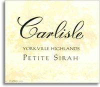 2006 Carlisle Winery Petite Sirah Yorkville Highlands