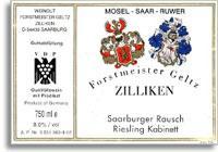 2011 Zilliken Saarburger Rausch Riesling Kabinett
