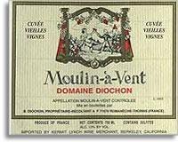 2011 Domaine Diochon Moulin-a-Vent Cuvee Vieilles Vignes