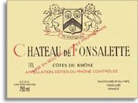 2007 Chateau Rayas Chateau De Fonsalette Cotes Du Rhone