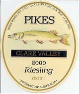 2009 Pikes Dry Riesling Clare Valley