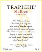 2010 Trapiche Malbec Oak Cask