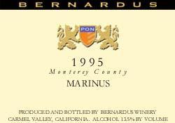 2002 Bernardus Marinus Red Wine Carmel Valley