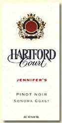 2011 Hartford Family Wines Hartford Court Pinot Noir Jennifer Sonoma Coast