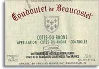 2010 Chateau De Beaucastel Cotes Du Rhone Coudoulet De Beaucastel