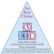 2001 Au Bon Climat Pinot Noir Knox-Alexander Santa Maria Valley
