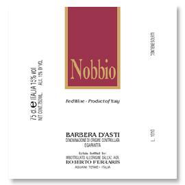 2015 Roberto Ferraris Barbera d'Asti Nobbio