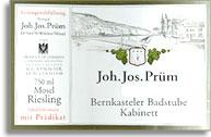 2009 Joh. Jos. Prum Bernkasteler Badstube Riesling Kabinett