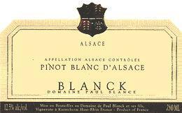 2008 Domaine Paul Blanck Pinot Blanc d'Alsace