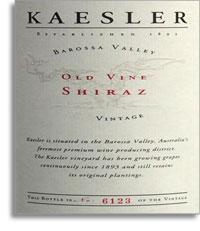 2012 Kaesler Wines Old Vine Shiraz Barossa Valley