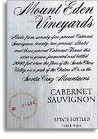 2010 Mount Eden Vineyards Cabernet Sauvignon Estate Santa Cruz Mountains