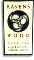 1999 Ravenswood Winery Zinfandel Barricia Vineyard Sonoma Valley