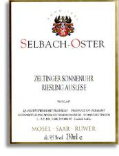 2007 Selbach Oster Zeltinger Sonnenuhr Riesling Auslese