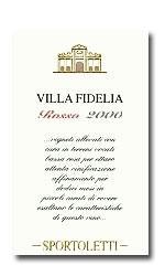 2008 Sportoletti Villa Fidelia Rosso