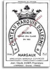 2003 Chateau Marquis D'Alesme Margaux