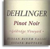 2012 Dehlinger Winery Pinot Noir Goldridge Vineyard Russian River Valley