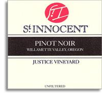 2011 St. Innocent Winery Pinot Noir Justice Vineyard Eola-Amity Hills