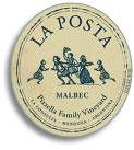 2010 La Posta Malbec Pizzella Family Vineyard Mendoza